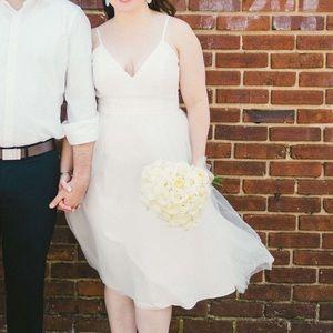 David's Bridal Chantilly Lace & Tulle Short Dress
